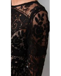 Lover - Black Tilly Lace Top - Lyst