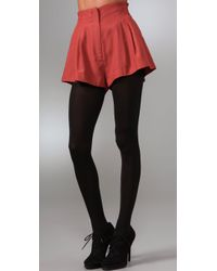 Lover - Red Gallery Twill Shorts - Lyst
