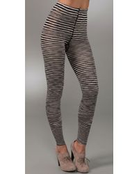 M Missoni | Black Striped Leggings | Lyst