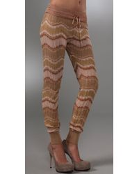 M Missoni | Metallic Crochet-knit Pants | Lyst