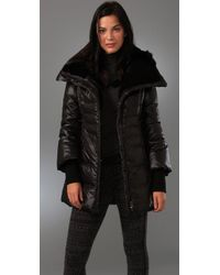 Mackage - Black Magda Fur Trimmed Down Coat - Lyst