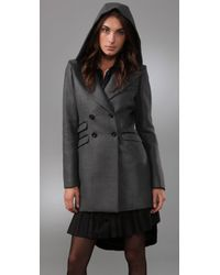 Mackage - Gray Double-breasted Three-quarter Coat - Lyst