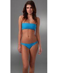 Mikoh Swimwear | Blue Molokai Banded Bikini Top | Lyst