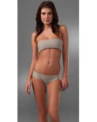 Mikoh Swimwear | Natural Bali Basic Booty Bikini Bottoms | Lyst