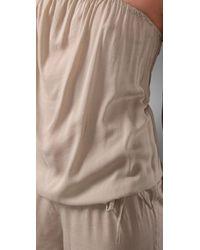 Mikoh Swimwear - Natural Port Elizabeth Cover Up Jumpsuit - Lyst