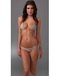 Mikoh Swimwear | Natural St. Lucia String Tie Bikini Top | Lyst