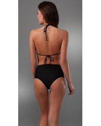 Mikoh Swimwear - Black Sumatra Banded Triangle Top - Lyst