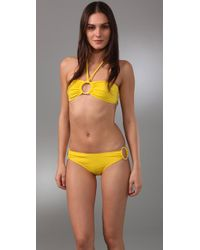MILLY | Yellow Barbados Bikini Top | Lyst