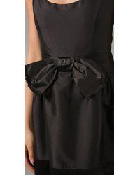 MILLY | Black Dominique Sash Dress | Lyst