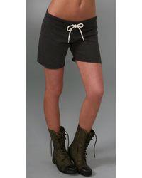 Monrow   Black Fleece Vintage Shorts   Lyst