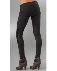 Nightcap - Gray Motorcycle Leggings - Lyst
