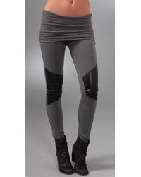 Nightcap | Gray Motorcycle Leggings | Lyst