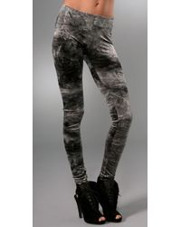 Nightcap | Gray Velvet Tie Dye Leggings | Lyst