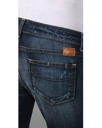 PAIGE - Blue Jimmy Jimmy Maternity Boyfriend Jeans - Lyst