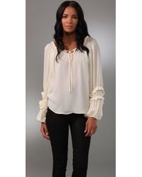 Parker | Natural Boho Top | Lyst