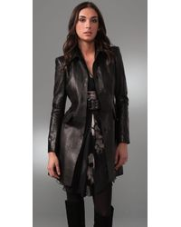Philosophy di Alberta Ferretti | Black Leather Jacket | Lyst