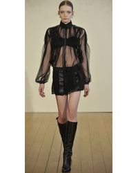 Philosophy di Alberta Ferretti - Black Leather Panel Skort - Lyst