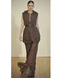 Philosophy di Alberta Ferretti - Brown Long Seamed Skirt - Lyst