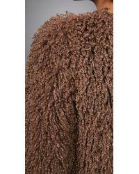 Plastic Island - Brown Stoneage Crop Jacket - Lyst