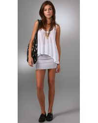 Pleasure Doing Business - White 4 Band Woven Miniskirt - Lyst