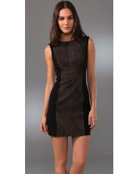 Rag & Bone - Black Suede Panel Harrow Dress - Lyst