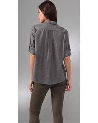 Rag & Bone - Gray The Hampton Shirt - Lyst