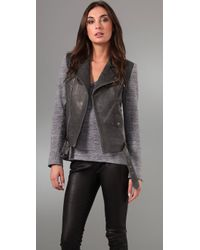 Rebecca Minkoff | Gray Lindbergh Leather Jacket | Lyst