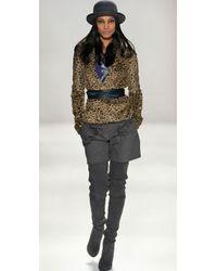 Rebecca Taylor - Brown Faux Fur Blazer - Lyst