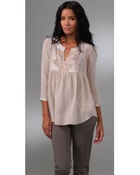 Rebecca Taylor | Natural Bohemian Evening Blouse | Lyst