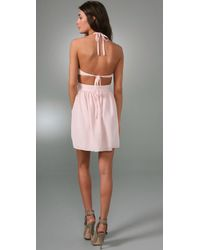 Rory Beca | White Bailey Cutout Halter Dress | Lyst