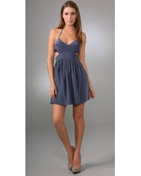 Rory Beca | Blue Bailey Cutout Halter Dress | Lyst