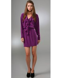 Rory Beca | Purple Claudia Ruffle Dress | Lyst