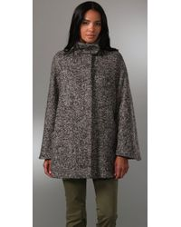 See By Chloé - Gray Cape Coat - Lyst