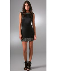 Sheri Bodell - Black Metal Beaded Low Back Dress - Lyst