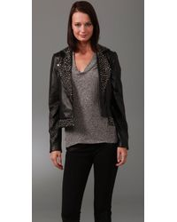 Sheri Bodell - Black Studded Leather Jacket - Lyst