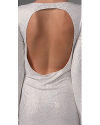 Sheri Bodell | White Gust Sparkle Open Back Dress | Lyst