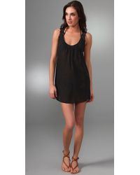 Shoshanna | Black Lace Tank Dress Cover Up | Lyst