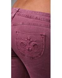 Siwy - Purple Hannah Slim Crop Jeans - Lyst