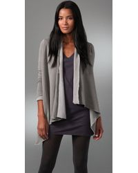 Splendid | Gray Vintage Whisper Button Wrap Cardigan | Lyst