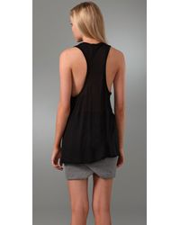 T By Alexander Wang   Black Women's Poly Crepe Off The Shoulder Top With Self Straps   Lyst