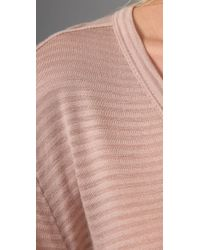 T By Alexander Wang | Natural Striped Classic Tee | Lyst