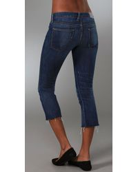Textile Elizabeth and James - Blue Joni Cropped Flare Jeans - Lyst