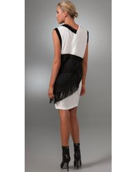 Thakoon - Black Layered Combo Jersey Dress - Lyst