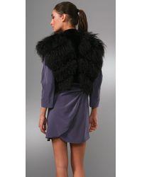 Thakoon - Black Mongolian Fur Gilet - Lyst