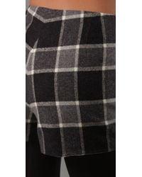 Theory - Black Iselin Plaid Shorts - Lyst
