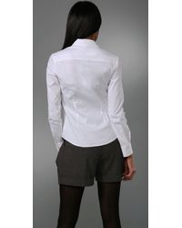 Theory - White Larissa Button Front Shirt - Lyst