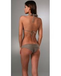 Tori Praver Swimwear - Natural Daisy Triangle Bikini Top - Lyst