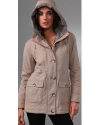 Torn By Ronny Kobo - Natural Sofia Parka In Beige - Lyst