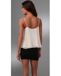 Torn By Ronny Kobo - White Nadya Pleated Top - Lyst