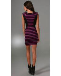 Torn By Ronny Kobo - Purple Julia Striped Dress - Lyst